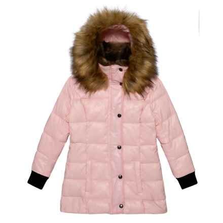 S13/NYC Chelsea Bubble Down Jacket - Insulated (For Toddler and Little Girls) in Blush - Closeouts