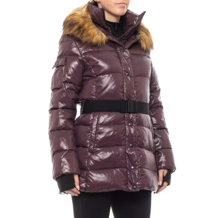 4a51986bf0a90 S13/NYC Gloss Zip Double-Front Belted Down Coat (For Women) in