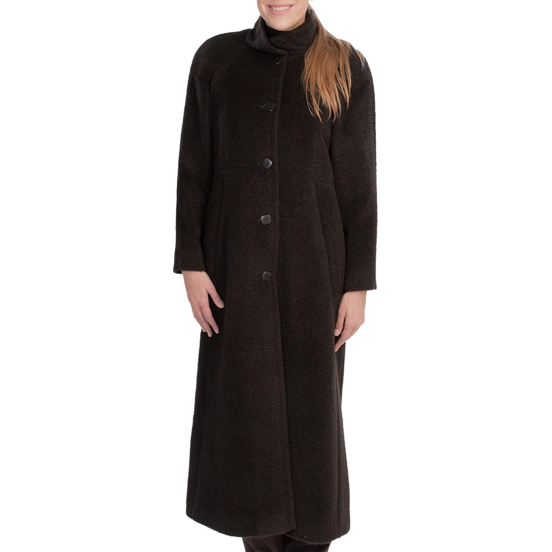 Glamorous Full Length Coat Black 1940s style vintage inspiration