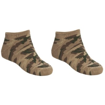 Saddlebred No-Show Outdoor Socks - 2-Pack, Below-the-Ankle (For Men) in Camo