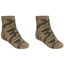 Saddlebred Outdoor Socks - 2-Pack, Quarter-Crew (For Men) in Camo - Closeouts