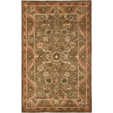 Safavieh Antiquity Area Rug - 4x6', Hand-Tufted Wool in Olive / Gold - Overstock