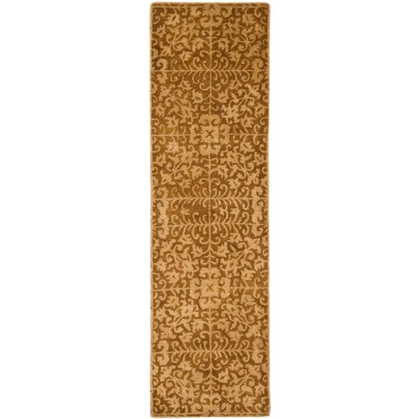 """Safavieh Antiquity Collection Gold and Beige Floor Runner - 2'3""""x8', Hand-Tufted Wool in Gold/Beige"""