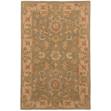 Safavieh Antiquity Collection Green and Gold Scatter Accent Area Rug - 3x5', Hand-Tufted Wool in Green/Gold