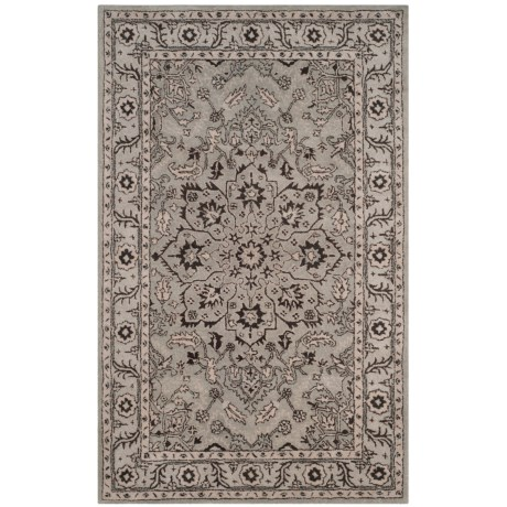Safavieh Antiquity Collection Grey and Beige Area Rug - 5x8', Hand-Tufted Wool in Grey/Beige