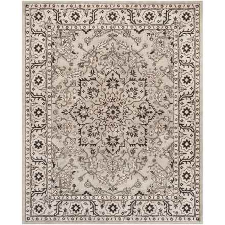 Safavieh Antiquity Collection Grey and Beige Area Rug - 8x10', Hand-Tufted Wool in Grey/Beige - Closeouts