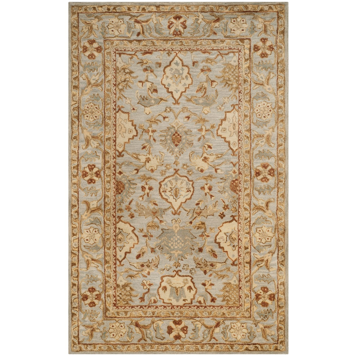 Stella Collection Hand Tufted Area Rug In Beige Light: Safavieh Antiquity Collection Light Grey Area Rug