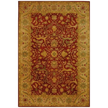 Safavieh Antiquity Collection Rust Area Rug - 5x8', Hand-Tufted Wool in Rust
