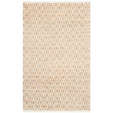 Safavieh Cape Cod Contemporary Geo Pattern Scatter Rug - 3x5', Jute-Cotton in Natural - Closeouts