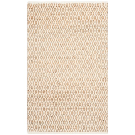 Safavieh Cape Cod Contemporary Geo Pattern Scatter Rug - 3x5', Jute-Cotton in Natural