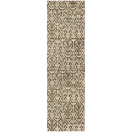 Safavieh Cape Cod Contemporary Pattern Gray Floor Runner - 2x8', Jute in Light Beige / Grey