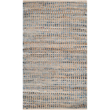 Safavieh Cape Cod Handwoven Scatter Area Rug - 3x5', Jute in Natural / Blue