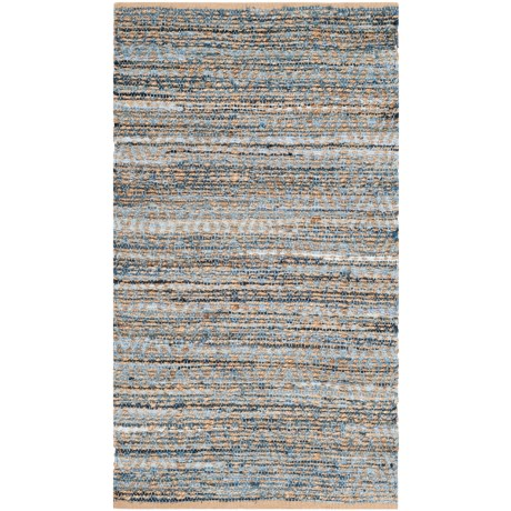 Safavieh Cape Cod Natural Fiber Scatter Area Rug - 3x5', Jute in Natural / Blue