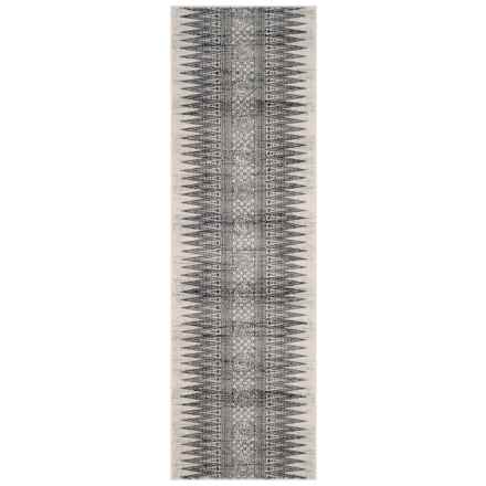 "Safavieh Evoke Bohemian Style Floor Runner - 2'2""x7', Ivory-Grey in Ivory / Grey - Closeouts"