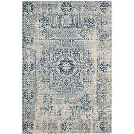 "Safavieh Evoke Bohemian Vintage Look Area Rug - 5'1""x7'6"", Ivory-Blue in Ivory / Blue - Closeouts"