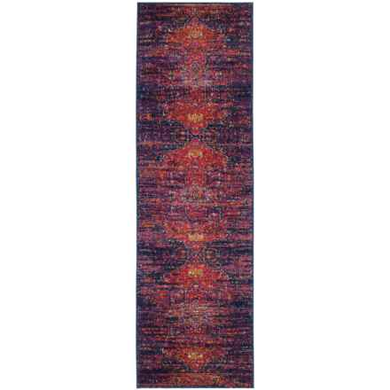 "Safavieh Evoke Vintage Look Floor Runner - 2'2""x7', Blue-Fuchsia in Blue / Fuchsia - Closeouts"