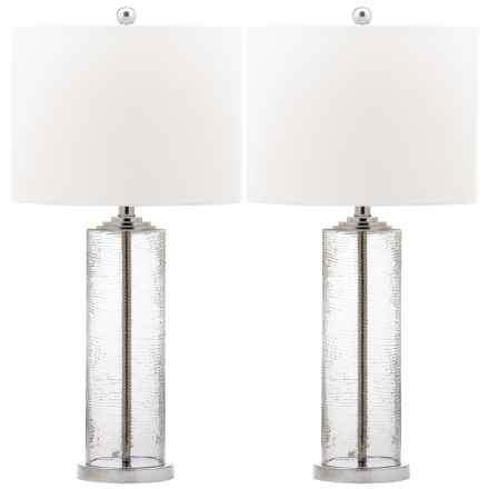 Safavieh Grant Table Lamps - Set of 2 in Clear/White - Closeouts