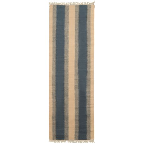 Safavieh Kilim Collection Blue and Ivory Floor Runner - 2?3?x8? Hand-Tufted Wool