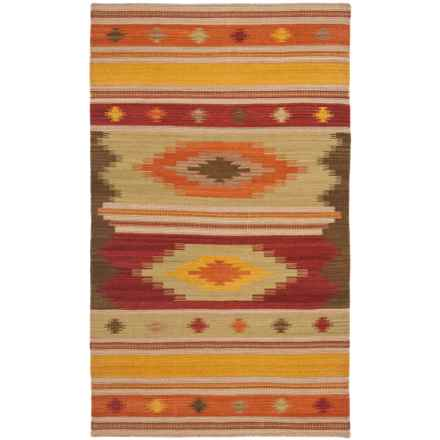 Safavieh Kilim Collection Multi-Brown Scatter Accent Rug - 3x5', Hand-Tufted Wool in Brown/Multi - Closeouts