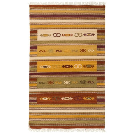 Safavieh Kilim Collection Multi-Burgundy Scatter Accent Rug - 3x5', Hand-Tufted Wool in Burgundy/Multi