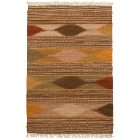 Safavieh Kilim Collection Multi-Natural Scatter Accent Rug - 3x5', Hand-Tufted Wool in Natural/Multi