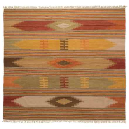 Safavieh Kilim Collection Multi-Red Square Area Rug - 7x7', Hand-Tufted Wool in Red/Multi - Closeouts