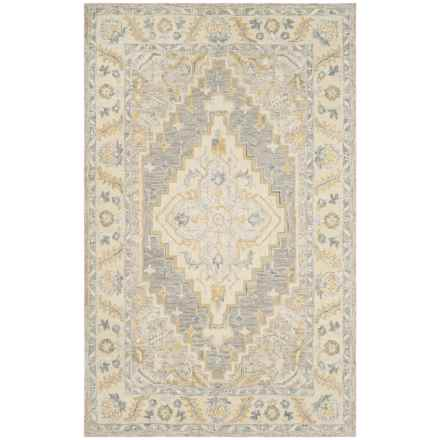 Safavieh Medallion-Pattern Beige and Grey Area Rug - 5x8', Micro-Pile Wool in Beige/Grey - Closeouts