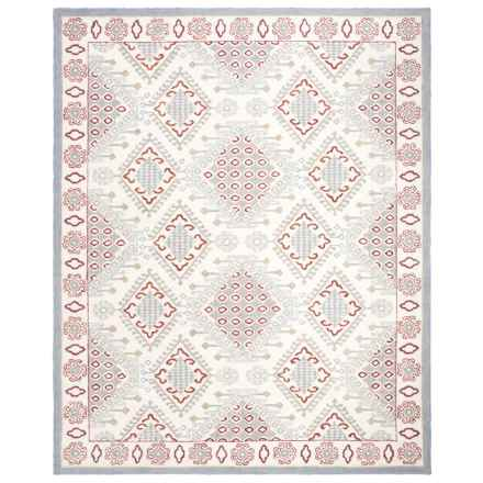 Safavieh Micro-Pile Ivory and Red Area Rug - 8x10', Wool in Ivory/Red - Closeouts