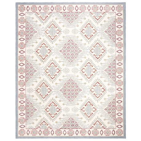 Safavieh Micro-Pile Ivory and Red Area Rug - 8x10', Wool in Ivory/Red