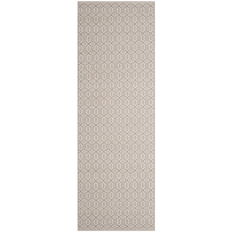 Safavieh Montauk Contemporary Handwoven Floor Runner - 2x8', Cotton in Ivory / Grey