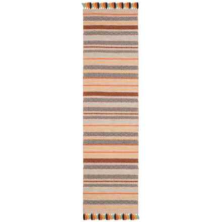 Safavieh Montauk Contemporary Multicolor Handwoven Floor Runner - 2x8', Wool-Cotton in Beige / Multi - Closeouts