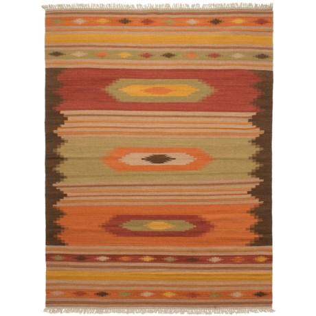 Safavieh Navajo Kilim Collection Multi-Brown Area Rug - 5x8', Hand-Tufted Wool in Brown/Multi