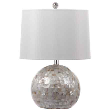 Safavieh Nikki Shell Table Lamp in Creme - Closeouts