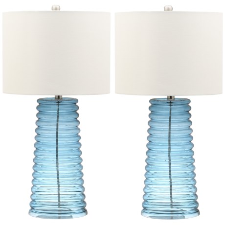 "Safavieh Set of 2 Yantley Table Lamps - 28"" in Blue"
