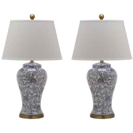 Safavieh Spring Blossom Table Lamps - Set of 2 in White/Blue - Closeouts