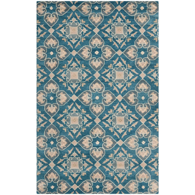 Safavieh Wyndham Collection Blue and Grey Medallion Area ...
