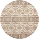 Safavieh Wyndham Collection Diamond Multi-Natural Round Area Rug - 7', Hand-Tufted Wool