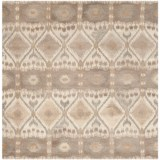 Safavieh Wyndham Collection Diamond Multi-Natural Square Area Rug - 7x7', Hand-Tufted Wool