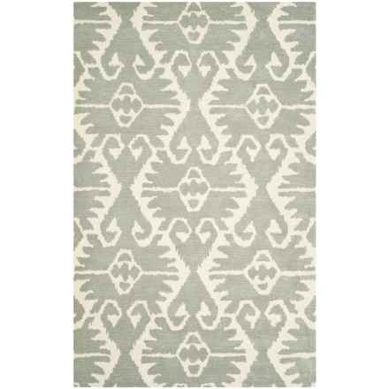 Safavieh Wyndham Collection Grey and Ivory Area Rug - 5x8', Hand-Tufted Wool in Grey/Ivory - Closeouts