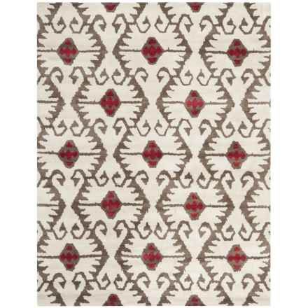 Safavieh Wyndham Collection Ivory and Brown Area Rug - 8x10', Hand-Tufted Wool in Ivory/Brown - Closeouts