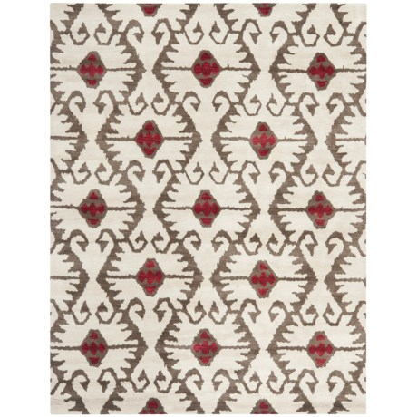 Safavieh Wyndham Collection Ivory and Brown Area Rug - 8x10', Hand-Tufted Wool in Ivory/Brown