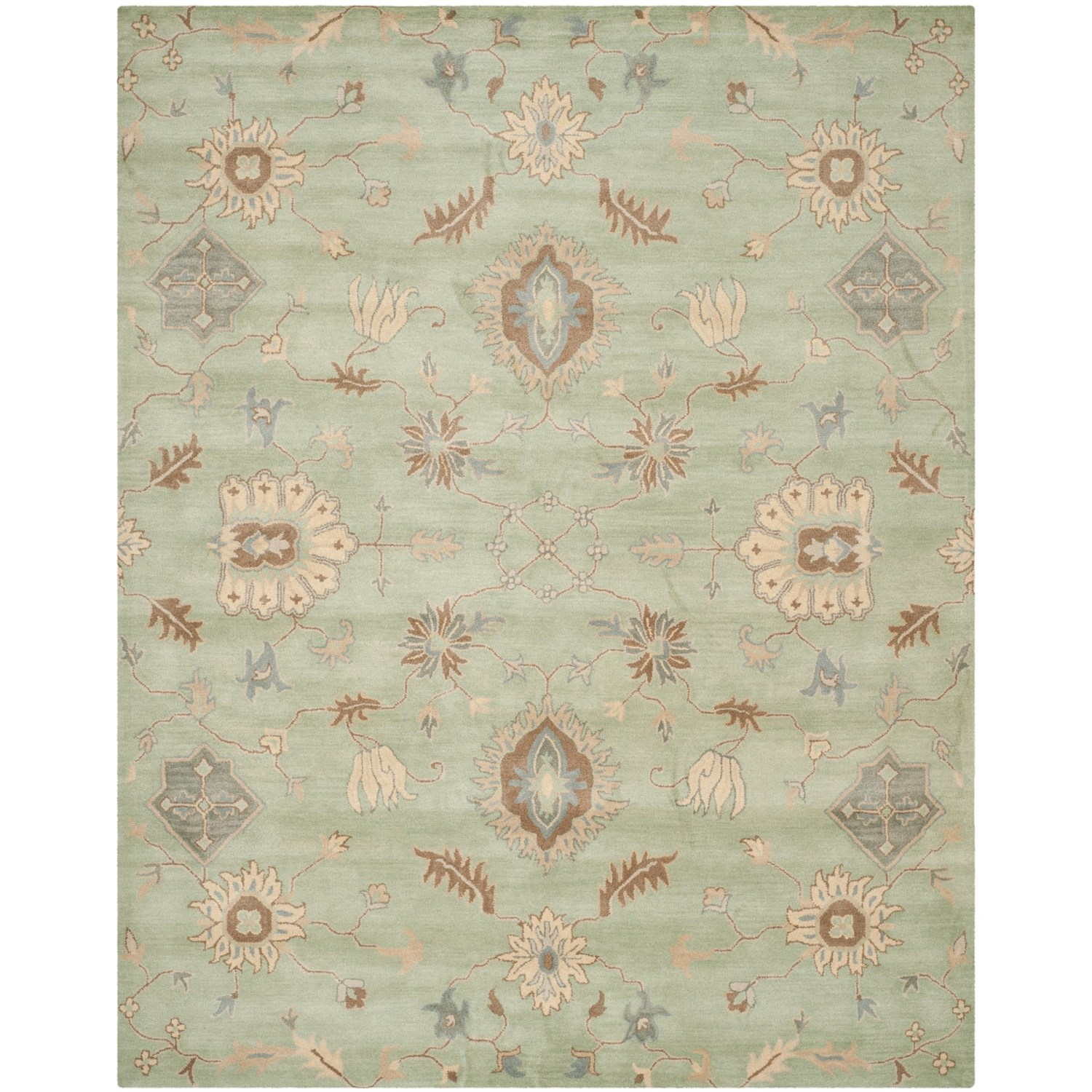 Stella Collection Hand Tufted Area Rug In Beige Light: Safavieh Wyndham Collection Light Green Square Area Rug