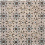 Safavieh Wyndham Collection Multi-Beige Square Area Rug - 7x7', Hand-Tufted Wool