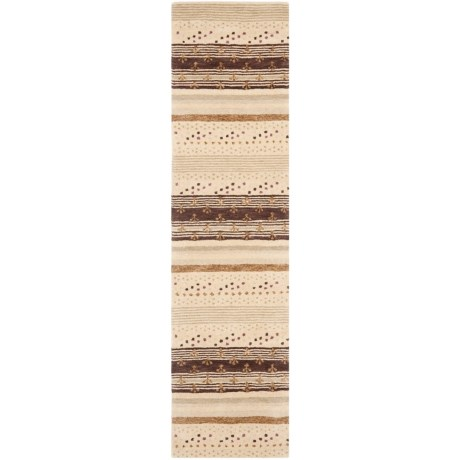 "Safavieh Wyndham Collection Multi-Ivory Floor Runner - 2'3""x9', Hand-Tufted Wool in Ivory/Multi"