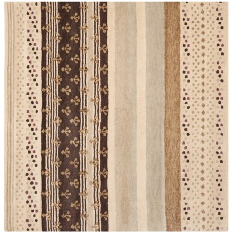 Safavieh Wyndham Collection Multi-Ivory Square Area Rug - 7x7', Hand-Tufted Wool in Ivory/Multi