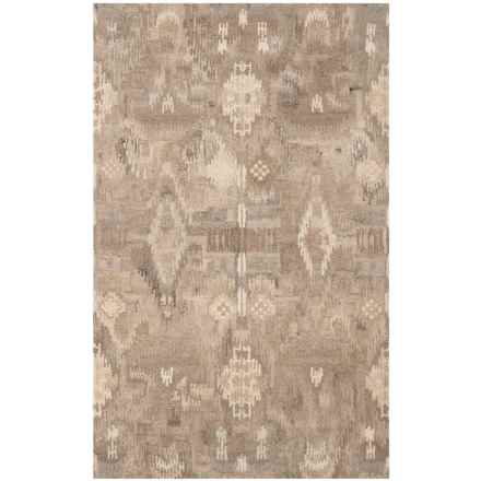 Safavieh Wyndham Collection Pixelated Multi-Natural Area Rug - 5x8', Hand-Tufted Wool in Natural/Multi - Closeouts