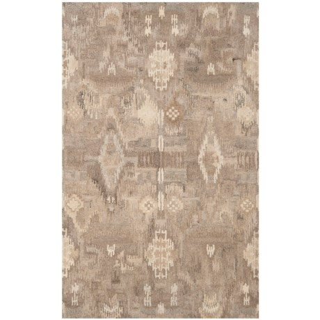 Safavieh Wyndham Collection Pixelated Multi-Natural Area Rug - 5x8', Hand-Tufted Wool in Natural/Multi