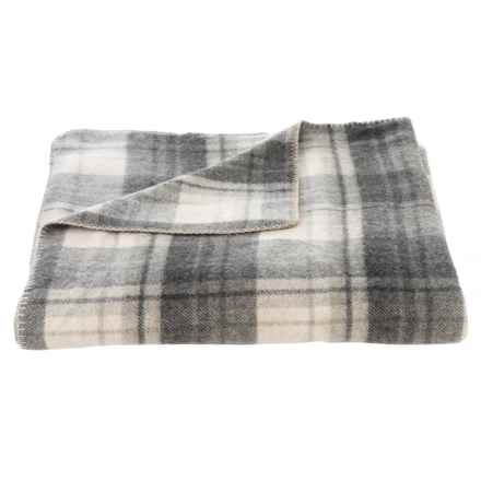 Safete Ivory-Grey Luxury Wool Blanket - Full-Queen in Ivory / Grey - Closeouts