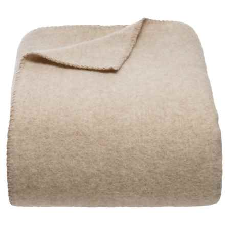 Safete Maison Oatmeal Luxury Wool Blanket - Full-Queen in Oatmeal - Closeouts