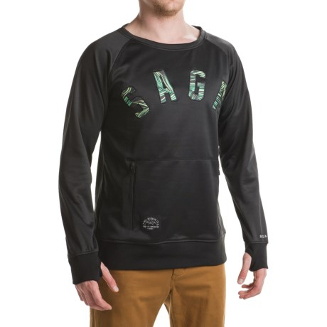 Saga Classic Logo Riding Shirt - Crew Neck, Long Sleeve (For Men)